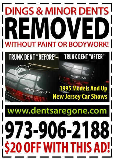 New Jersey Paintless Dental Removal